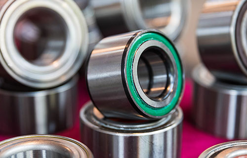 close up of lubricated bearings
